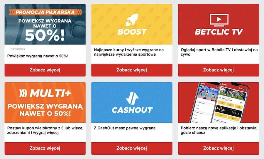 betclic Polska bonus bez depozytu
