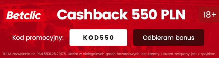 betclic bonus cashback 550